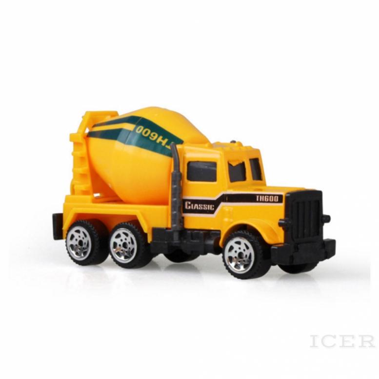 ICER Children's toy excavator alloy sliding car model mini set engineering vehicle