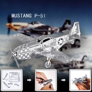 Mô hình 3D- máy bay Mustang B-51