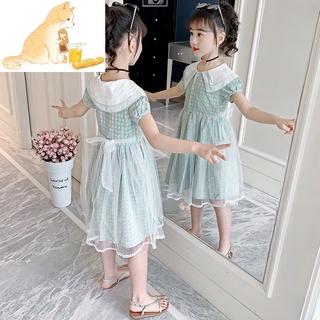 Đầm Thời Trang Xinh Xắn Dành Cho Bé Gái🍁 Đầm Cổ Búp Bê Thời Trang Mùa Hè Hàn Quốc Cho Bé Gái🍁🍁Áo Khoác Thời Trang Phong Cách Hàn Quốc