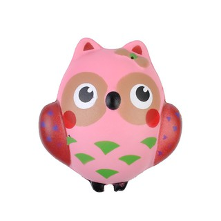 Handheld toys, owl, squeeze help reduce stress.