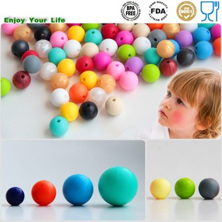 20pcs/pack Safety BPA-Free Silicone Baby Teether Mom DIY Beads