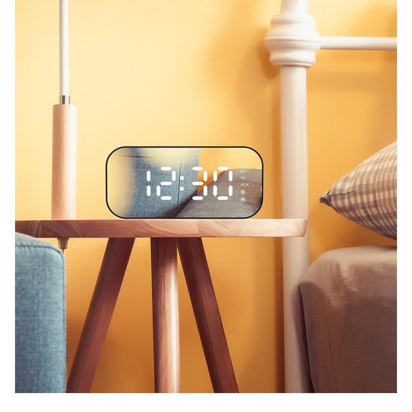 Loa Bluetooth kiêm đồng hồ báo thức Havit mặt  gương Phiên bản cao cấp nhất 2019