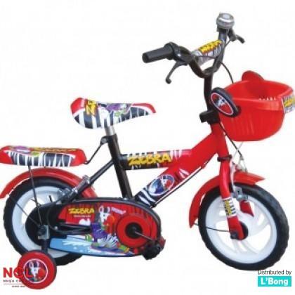 Xe đạp trẻ em ngựa vằn Zebra đỏ đen