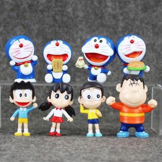 Mô Hình 08 Nhân Vật Doremon – Nobita Và Những Người Bạn – Mẫu 01