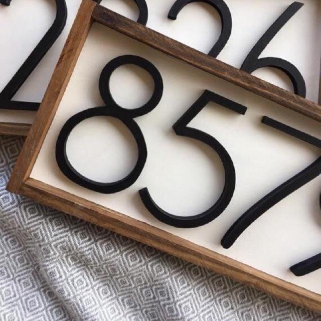 Bảng số nhà gỗ