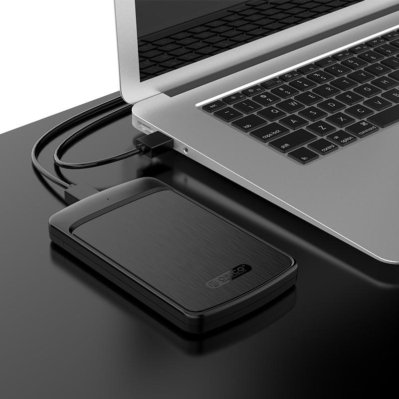 """Hộp Đựng Ổ Cứng ORICO 2020U3-Đen 2.5"""" SSD/HDD SATA 3 USB 3.0 - Hàng Chính Hãng"""