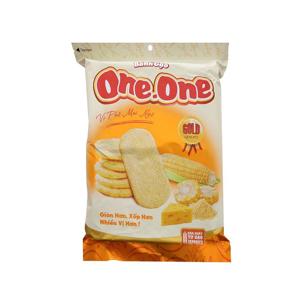 Bánh Gạo Ngọt One One Vị Phô Mai & Bắp 118g ngon rẻ - 22433585 , 2094831541 , 322_2094831541 , 46000 , Banh-Gao-Ngot-One-One-Vi-Pho-Mai-Bap-118g-ngon-re-322_2094831541 , shopee.vn , Bánh Gạo Ngọt One One Vị Phô Mai & Bắp 118g ngon rẻ