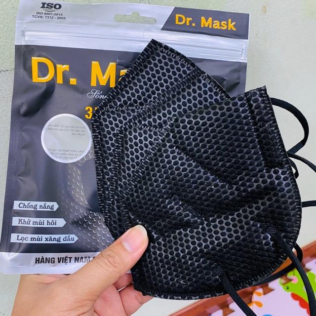 Túi 3 chiếc) Khẩu trang 3D Dr.Mask 4 lớp than hoạt tính cao cấp giảm chỉ  còn 49,900 đ