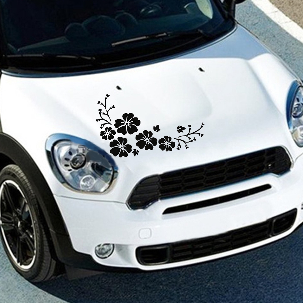 1PC Car auto motor flower Decal Vinyl sticker Decals reflect hood light side
