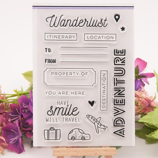 NBY❤❤Romantic travel Wanderlust Clear Stamps Scrapbooking Album Card Dec