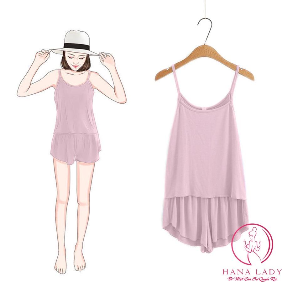 Mặc gì đẹp: Ngủ ngon hơn với Đồ ngủ 2 dây thun cotton cao cấp mềm mịn, đồ ngủ nữ mặc nhà siêu thoải mái VN409