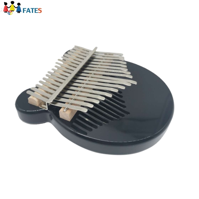 Kalimba 17 Key Acrylic Body Thumb Piano Black Mbira Musical Instrument