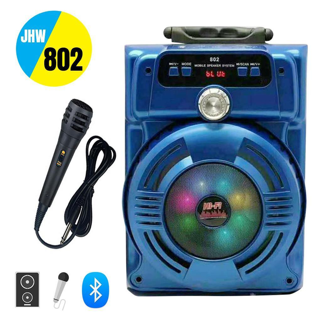 Loa kéo bluetooth hát Karaoke Xách tay JHW-802 âm thanh to,chắc có đèn led đẹp tặng kèm Micro