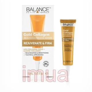 Kem Vàng Giảm Thâm Quầng Mắt Balance Active Formula Gold Collagen Eye Serum 15ml thumbnail