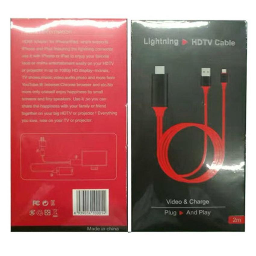 Cáp MHL sang HDMI, HDTV kết nối điện thoại IOS với TV (iPhone 5 6 7 8 X - IOS 8-10-11)