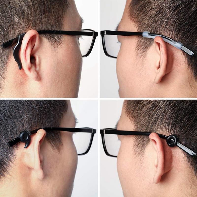 16 Pairs Eyeglasses Retainers Anti-Slip Eyeglass Holder Comfort Ear Grip Hooks Protectors for Spectacle Sunglasses