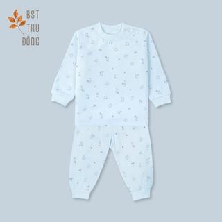 [Mã KIDMALL15 hoàn 15% xu đơn 150K] Bộ quần áo Nút Vai Mèo Mây dày-Miomio