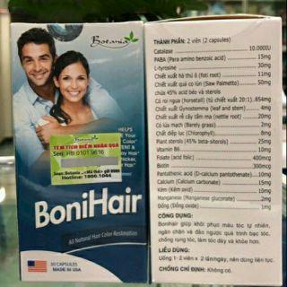Bonihair viên uống ngăn ngừa tóc bạc và rụng tóc