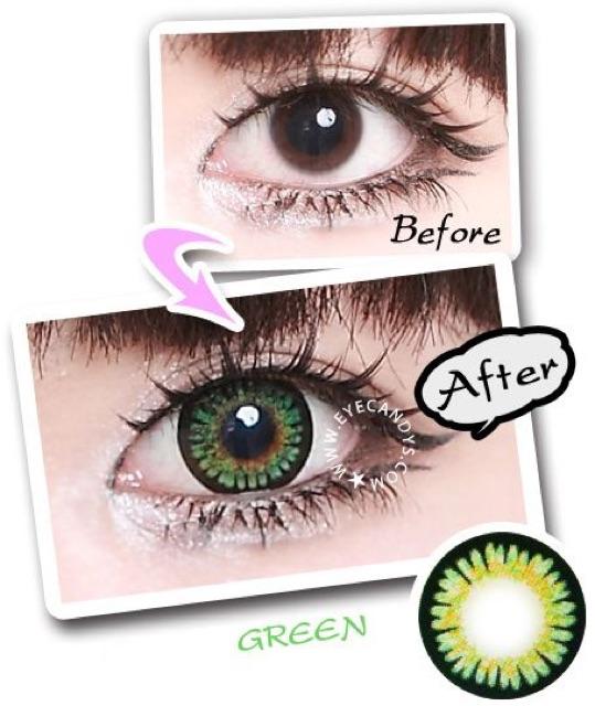 Lens xanh lá (green) 0 độ