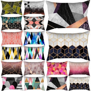 geometry Cushion Coverpolyester Linen Cushion Cover Sofa Cover Pillow Case Home Living