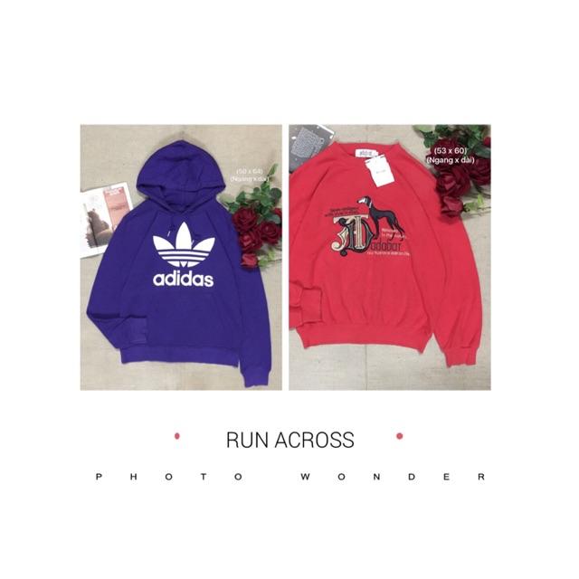 Combo 2 áo hoodie Adidas