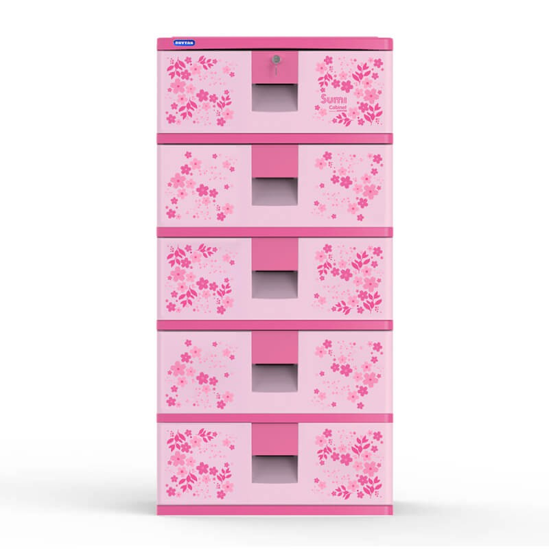 Tủ SUMI 5 ngăn-Hồng