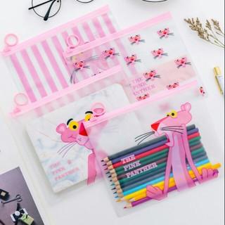 Túi zip đựng bút viết, mỹ phẩm báo hồng - BV002 thumbnail