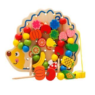 Bộ sâu hạt nhím hoa quả đồ chơi giáo dục