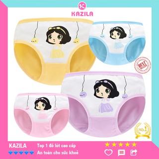 Quần chip bé gái cotton tinh khiết hạng A, quần lót bé gái công chúa Kazila QLG2