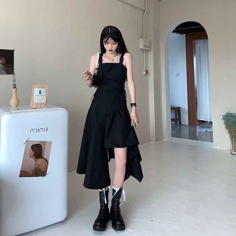 váy 2 dây Đầm Thời Trang 2021 Thiết Kế Lệch Tà Sành Điệu Trẻ Trung