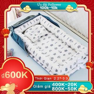 Nôi trẻ em cho giường Ghế xếp di động cho nôi trẻ sơ sinh Thoáng khí và làm tổ ngủ thumbnail