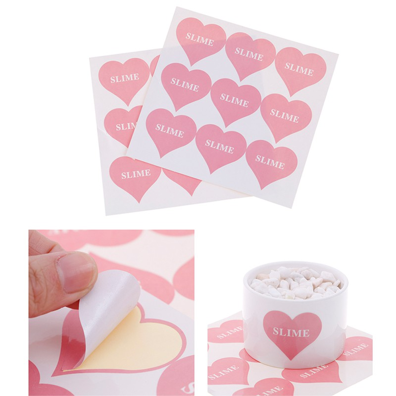 Youyimaoli 2pcs heart containers storage box sticker soft clear supplies DIY toy accessory