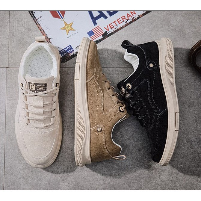 [Ảnh thật - Clip]  Giày Sneaker Nam, Giày Da Nam Thấp Cổ Da Lộn HOT HOT ( S801 )