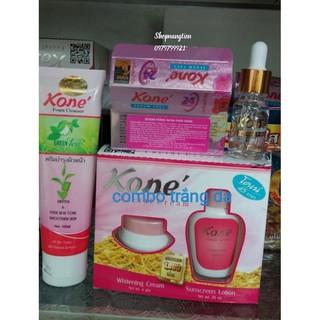 Combo dưỡng trắng da kone gồm 3 món kem,serum dưỡng da và sửa rửa mặt