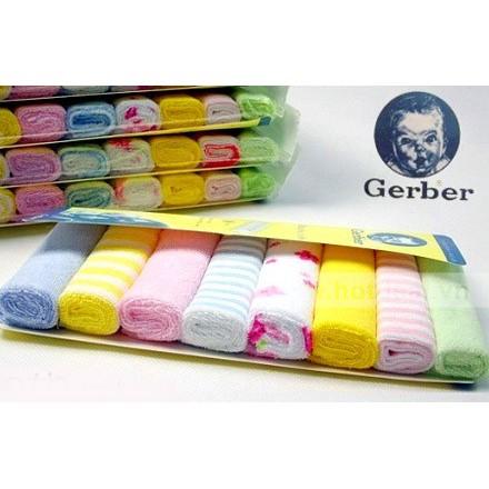 Set 8 khăn mặt Gerber cho bé - 3095198 , 584214191 , 322_584214191 , 60000 , Set-8-khan-mat-Gerber-cho-be-322_584214191 , shopee.vn , Set 8 khăn mặt Gerber cho bé