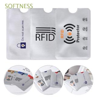 SOFTNESS 10pcs Prevent Scanning Protection Anti Theft RFID Blocking Aluminium Cards Protector Sleeve