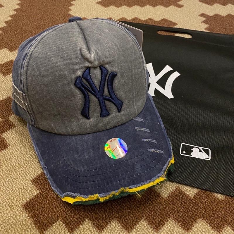 Ny MLB mũ lưỡi trai màu xanh lam miễn phí túi goodie