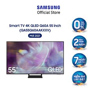 [Mã ELSAMHOT giảm 5% đơn 3TR] Smart Tivi Samsung 55 Inch QLED 4K QA55Q60AAKXXV - Model 2021 - Miễn phí lắp đặt thumbnail