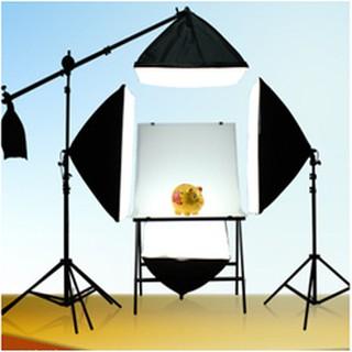 Bộ đèn chụp ảnh sản phẩm, đèn studio, quay phim, livestream chuyên nghiệp, Chân đèn cao 2m kèm Softbox 50x70cm