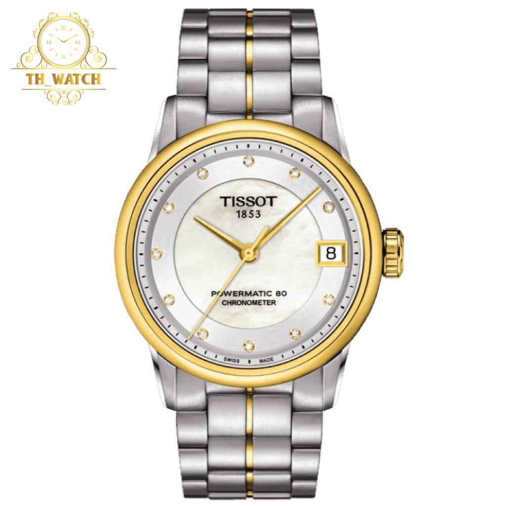 Đồng hồ Tissot 1853 Nam automatic kim cương, kính shapphire T086.408.22.036.00