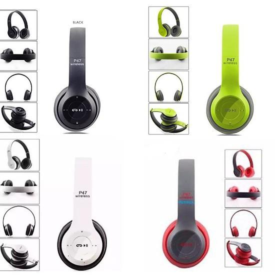 Tai Nghe Chụp Tai Cao Cấp Có Khe Thẻ Nhớ Bluetooth P47 - Nhiều Màu