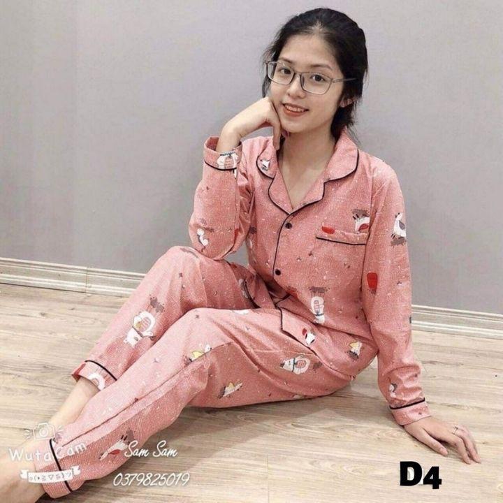 Mặc gì đẹp: Mát mẻ với Sale👉Bộ Pijama (Quần Dài-Tay Dài) Bộ Mặc Nhà Kate Thái Cao Cấp Hàng Loại 1 Mềm Mại, Thầm Hút Mồ Hôi, Không Xù