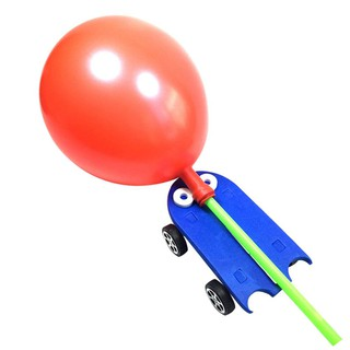 Cozyroomsa DIY Balloon Power Car Opposite Reaction Children Science Educational Toys