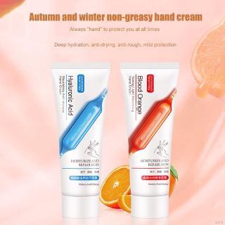 [Hàng mới về] Kem dưỡng tay chiết xuất cam đỏ/Acid Hyaluronic giữ ẩm chống nứt nẻ
