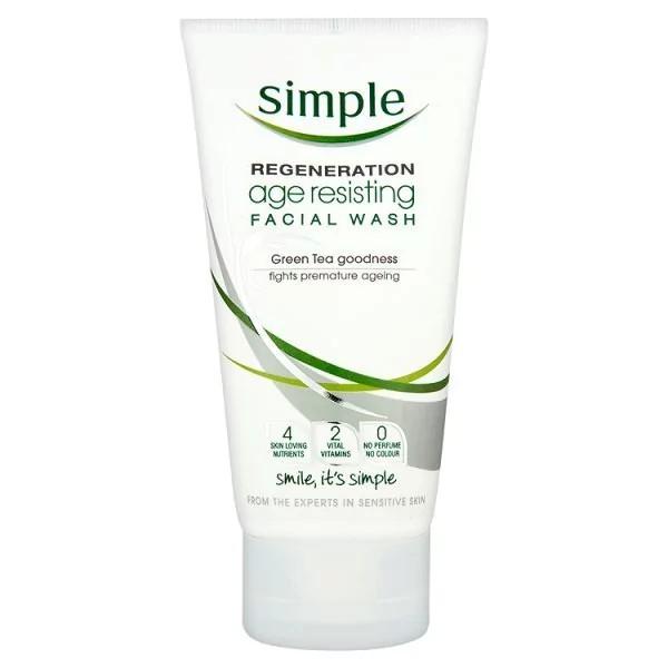 Sữa rửa mặt Simple Regeneration Age Resisting Facial Wash 150ml chống lão hóa - 2417576 , 509403657 , 322_509403657 , 180000 , Sua-rua-mat-Simple-Regeneration-Age-Resisting-Facial-Wash-150ml-chong-lao-hoa-322_509403657 , shopee.vn , Sữa rửa mặt Simple Regeneration Age Resisting Facial Wash 150ml chống lão hóa