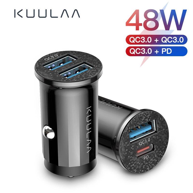 Tẩu Sạc KUULAA Tốc Độ Cao QC 4.0 Với 2 Cổng USB Cho Xe Ô Tô