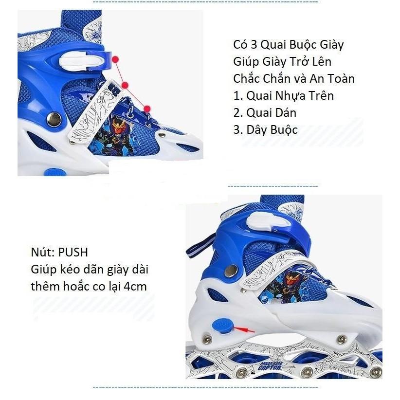 Giày trượt patin trẻ em, giày patin cho bé, patin cao cấp (SP38)