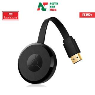 Bộ HDMI Wifi Không Dây Earldom ET-W2+ Hỗ Trợ Kết Nối Điện Thoại Với TV, Máy Chiếu