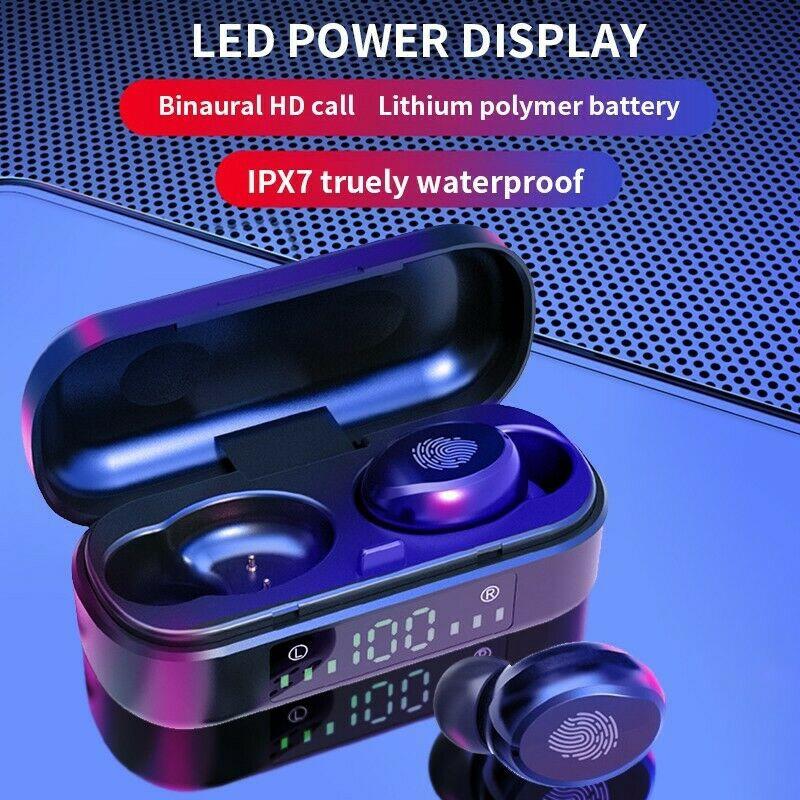 Tai nghe Bluetooth AMOI V8 không dây cảm ứng chống nước IPX7 dành cho VIVO HUAWEI XIAOMI IPHONE OPPO