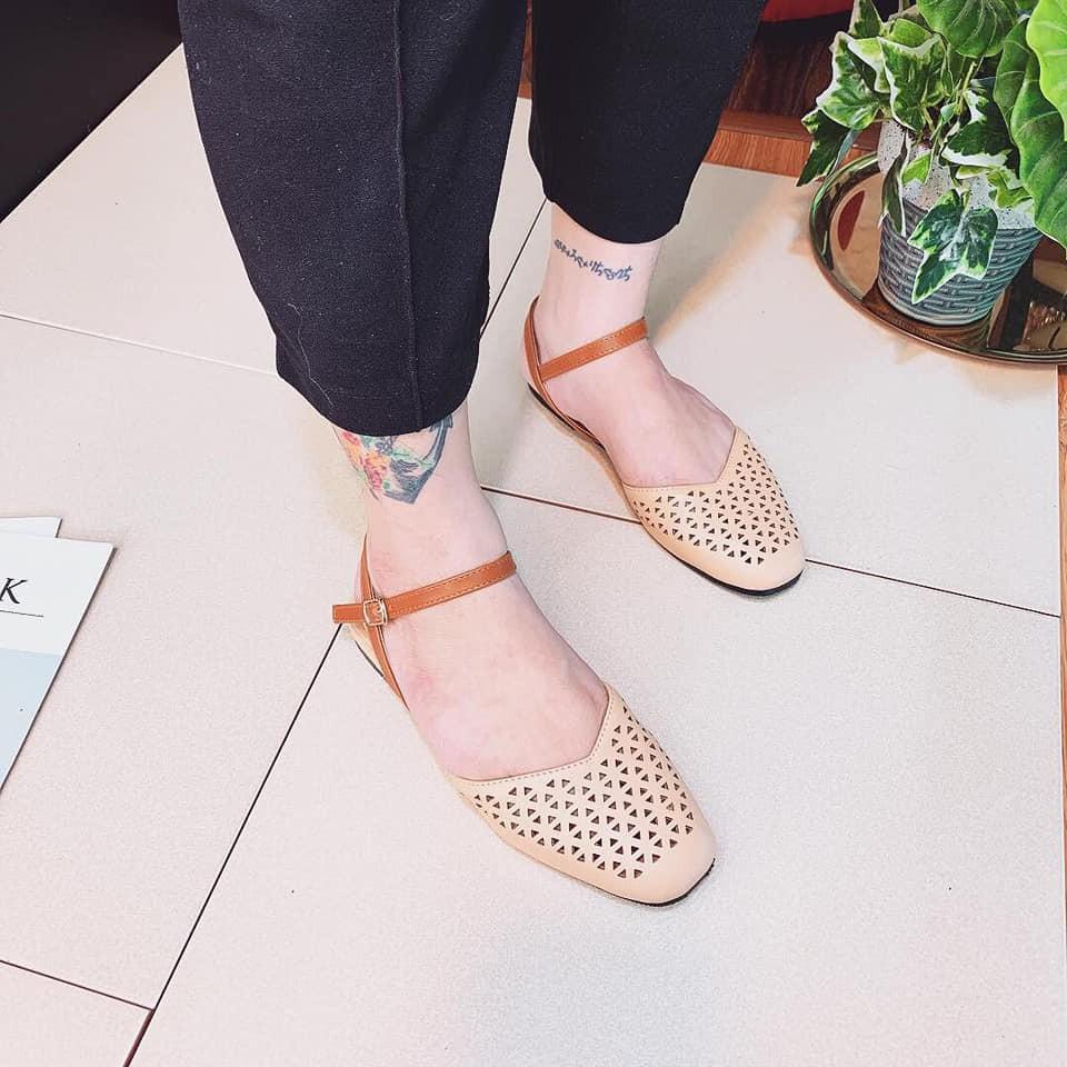 Giày sandal đế bệt laze kiểu mới